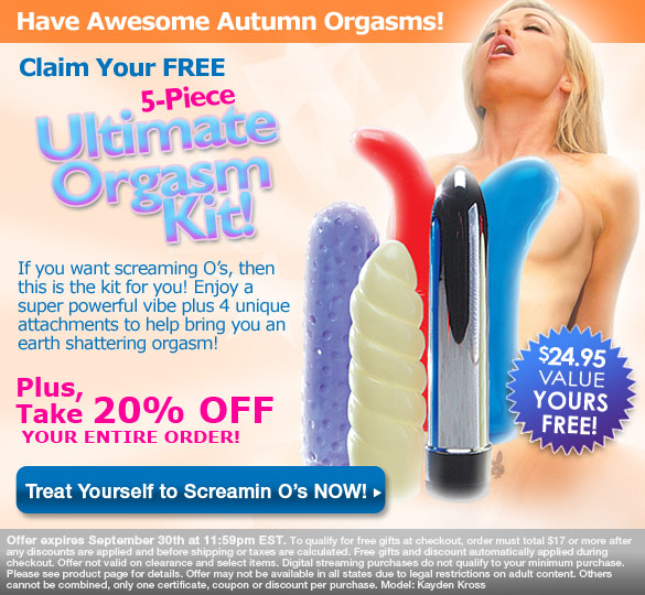 Get Your FREE 5 Piece Orgasm Kit!