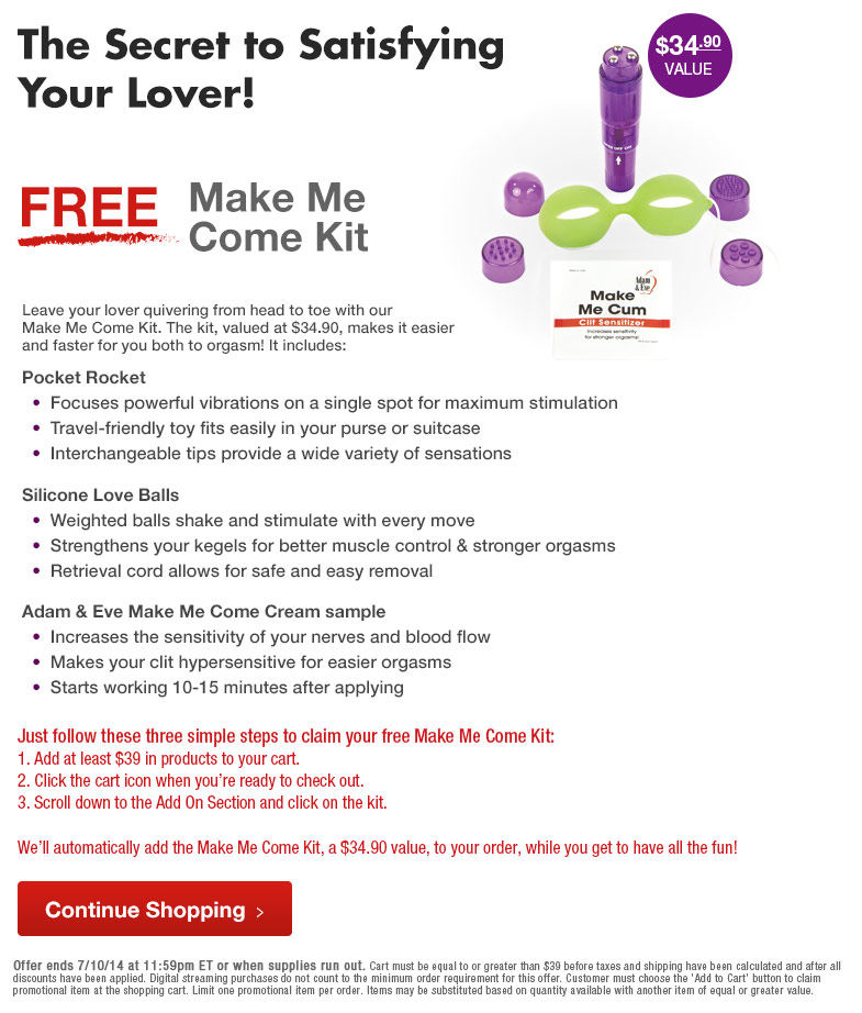 Get Your FREE Make Me Cum Kit!
