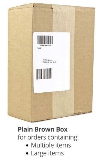 plain brown box package