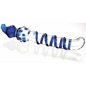 Adam & Eve Blue Swirl Glass Dildo