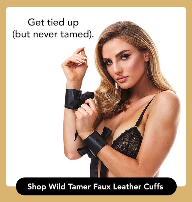 Shop wild tamer faux leather cuffs