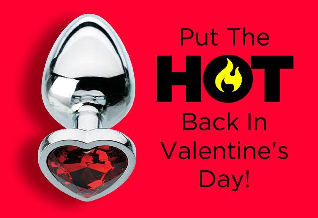 Shop Red Hearts Gem Anal Plug