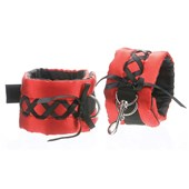 tantric satin ties ankle cuffs