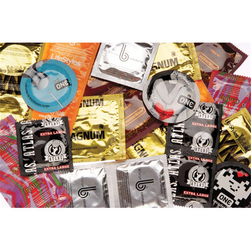 Big Man's Condom Sampler