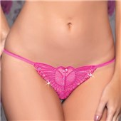 madame butterfly open crotch thong
