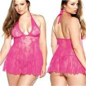 curve romance lace chemise