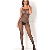 seamless crochet net bodystocking