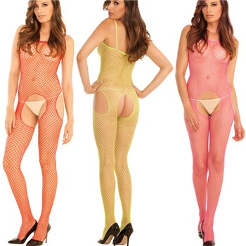 Deliciously Sweet Suspender Bodystockings Set