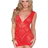 red hot sex appeal mini dress