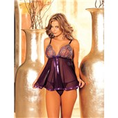 sequin embroidery babydoll