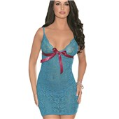 lace up pleasers chemise
