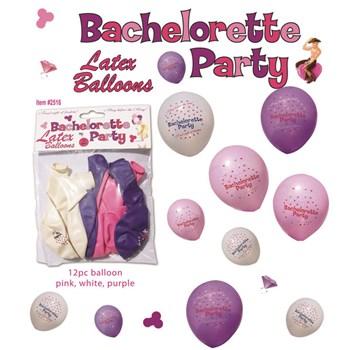 Bachelorette Party Latex Balloons 12-piece Set