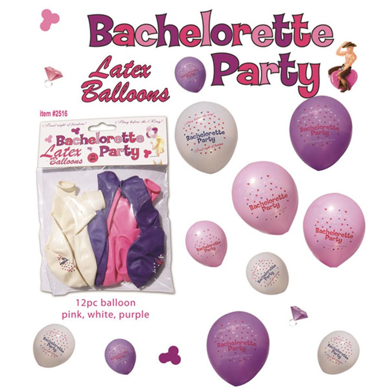 Bachelorette Party Latex Balloons 12-piece Set