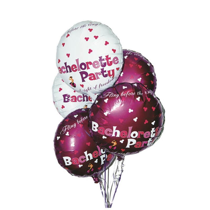 Bachelorette Mylar Balloons 9 piece Set