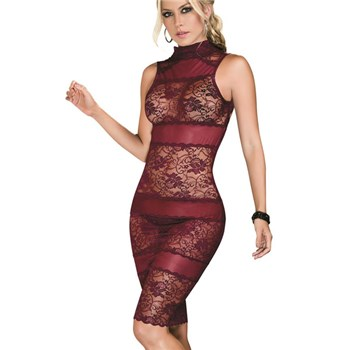 Burgundy Bliss Babydoll