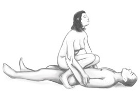Basic Cowgirl Illustrated Sex Position