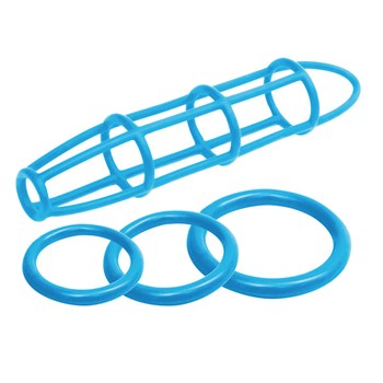Neon Silicone Cage & Ring Set