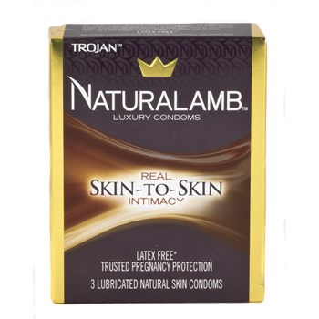 Trojan Naturalamb Condoms 3 Pk box