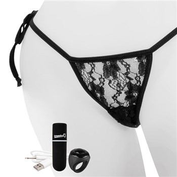 My Secret Charged Remote Control Panty Black on Display