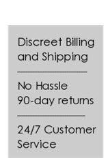 Discreet Shipping, 90-day Returns, 24/7 Customer Service
