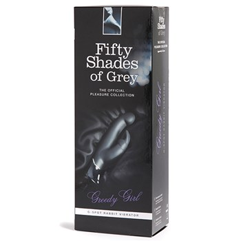 Fifty Shades of Grey Greedy Girl G-Spot Rabbit Vibrator box