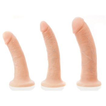 KingCock Suction Cup Dildo 3 sizes side by side