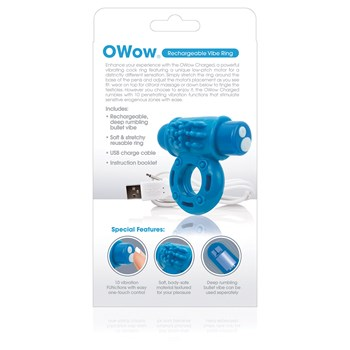 Charged O Wow Vibe Ring info from back of box