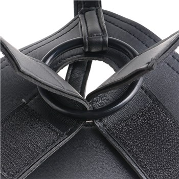 KingCock Strap-On Harness with 6 Inch Dildo close up of O ring