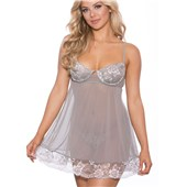 Heather Floral Babydoll front full view