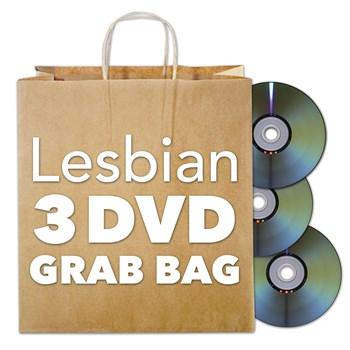 Lesbian DVD Grab Bag shot of bag and 3 dvds
