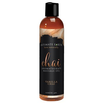 Intimate Earth Aromatherapy Massage Oil vanilla chai