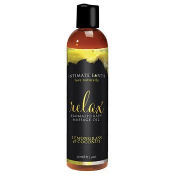 Intimate Earth Aromatherapy Massage Oil lemongrass and coconut