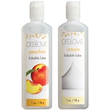 Oralove Delicious Duo Lickable Lubes peach