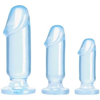 Adam & Eve's Beginner's Backdoor Kit biggest to smallest