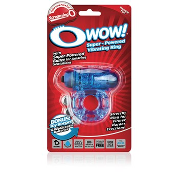 O Wow Vibrating Ring blue packaging