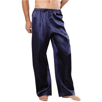 Classic Satin Lounge Pants blue front