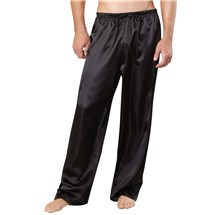 Classic Satin Lounge Pants black front
