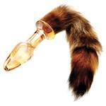 Foxxxy Fox Tail Glass Anal Plug