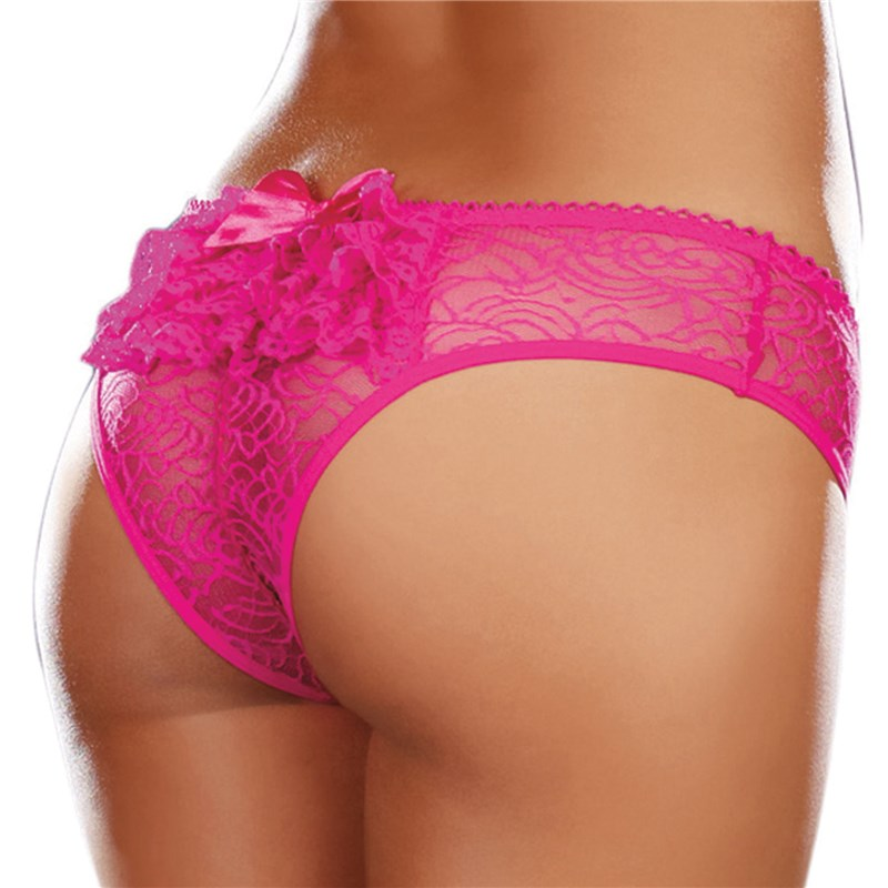 Irresistable Crotchless Lace Panty