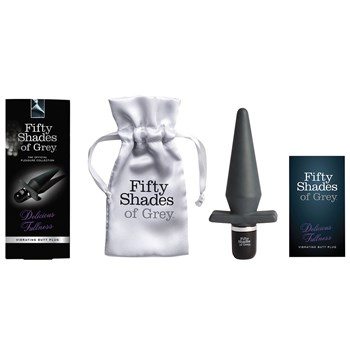 50 Shades of Grey Delicious Fullness Butt Plug with packaging and storage bag