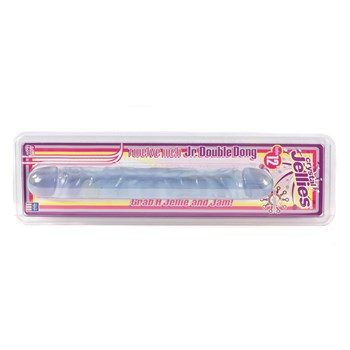 Super Jelly Realistic Double Dildo clear packaging