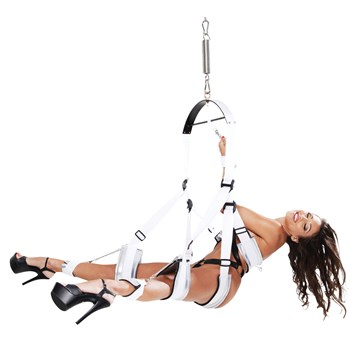 Fetish Fantasy Bondage Swing woman alone in swing