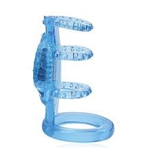 Zinger Vibrating Penis Cage blue
