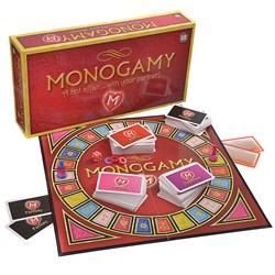 Monogamy A Hot Affair With Your Partner Game Box and game components