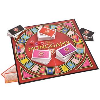 Monogamy A Hot Affair With Your Partner Game components on board