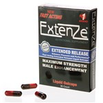Extenze Fast Acting Liquid Gelcaps with 3 pills shown