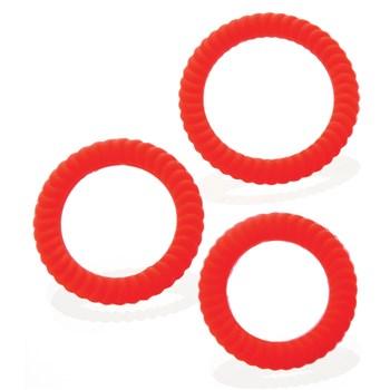 Ultra Sweller Penis Rings red
