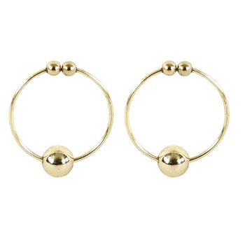 No Pierce Gold Nipple Rings