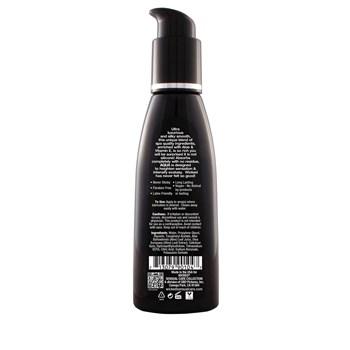 Wicked Aqua Waterbased Lube back of bottle