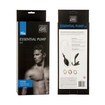 His Essential Pump Kit front and back of box